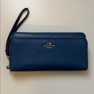 Coach Double Accordion Zip Wristlet Wallet